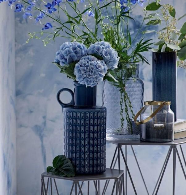 indigo mavi ev dekorasyonu trendleri 2019