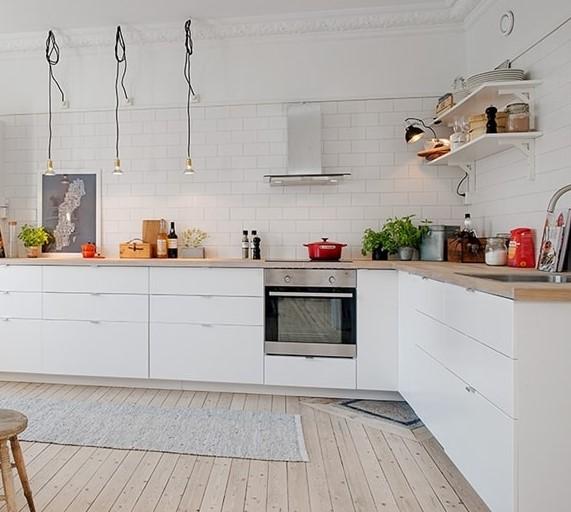 Mutfak Tavan Tasarimlari 5: İskandinav Tarzı Beyaz Mutfak Dolapları 2019