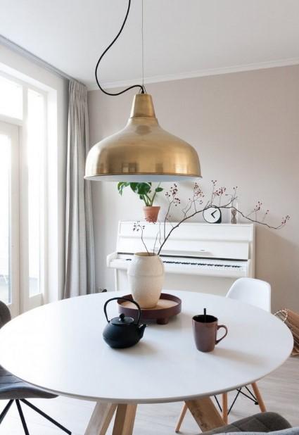 küçük yemek masaları için endüstriyel lambalar