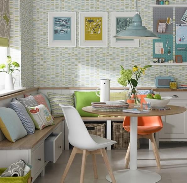 küçük yemek odaları için banklı masa takımları