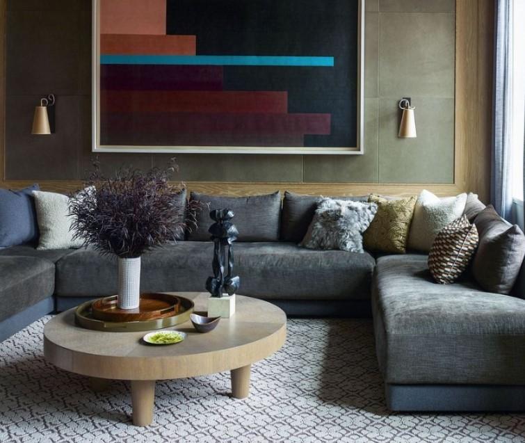 orta sehpa ile oturma odası dekorasyon fikirleri