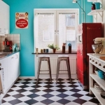 retro tarz modern mutfak dekorasyonu