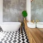 siyah beyaz banyo fayansları 2018