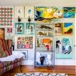 tablolar ile ev duvar dekorasyonu örnekleri 2019