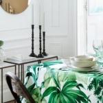 tropik desenli masa örtüsü