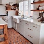 turuncu desenli mutfak halısı 2019