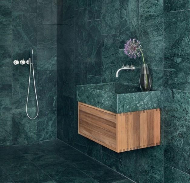 yeşil mermer banyo 2018