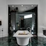 yeşil mermer kaplı banyo tasarımı 2018 2019