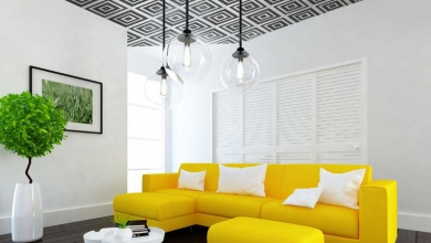 duvar kağıdı ile tavan dekorasyonu fikirleri 2018