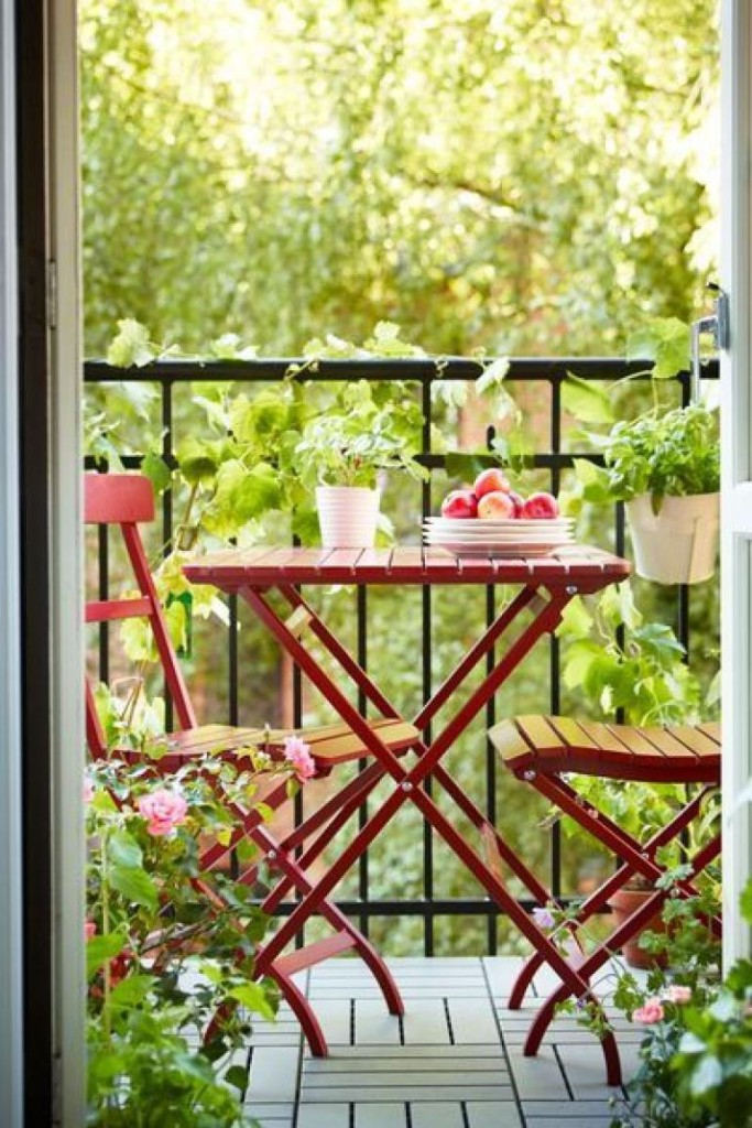 Balkon Ahşap Sandalye