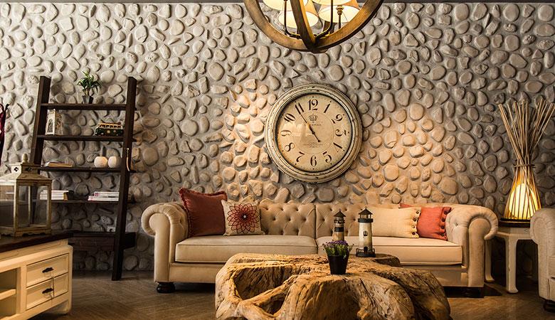 iç mekan taş duvar kaplama modeli