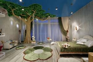 Ağaç Motifli Çocuk Odası Dekorasyonu