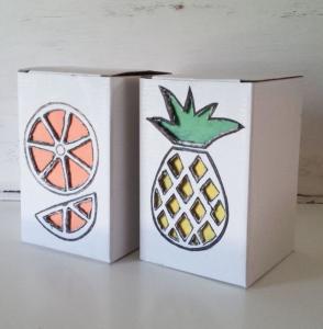 Kendin Yap Kartondan Meyve Kasası