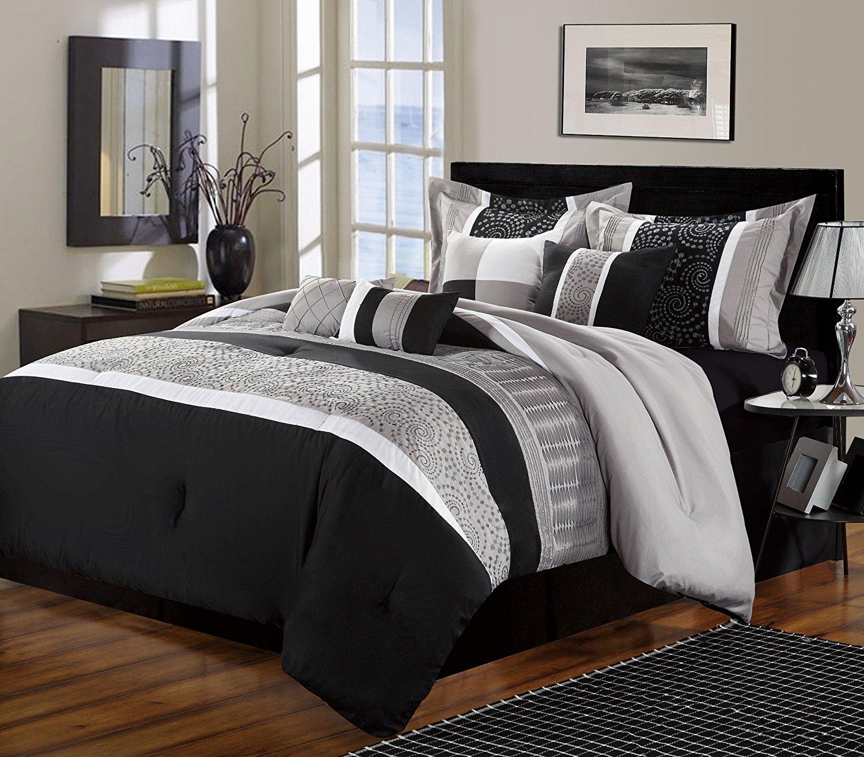 Siyah Beyaz Gri Yatak Odası Modeli