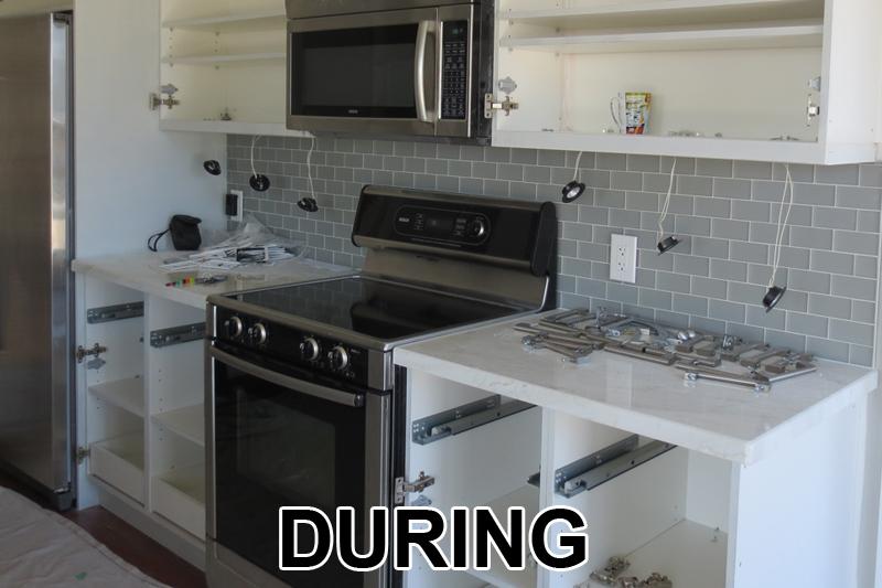 Mutfak Dolabı Boyama Sırasında
