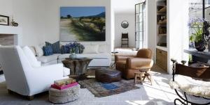 Açık Ton Oturma Odası Dekorasyonu