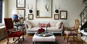Kırmızı Beyaz Oturma Odası Dekorasyonu