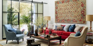 Kırmızı Oturma Odası Dekorasyonu