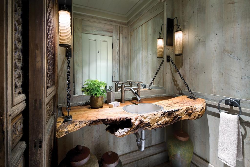 Rustik Lavabo Dekorasyonu