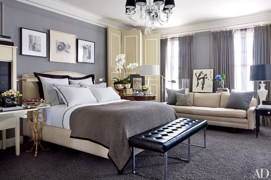 Gri Renkli Yatak Odası Takımı