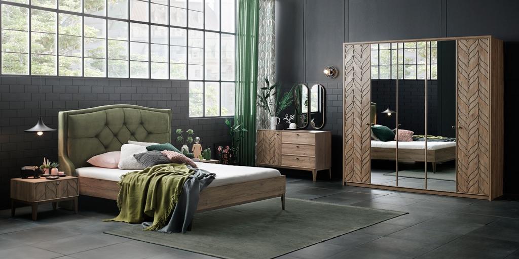 Yeşil Renkli Yatak Odası Takımı