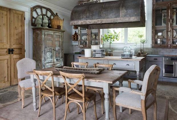 Ahşap Vintage Mutfak Dekorasyonu