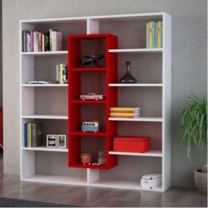 Kırmızı Beyaz Kitaplık