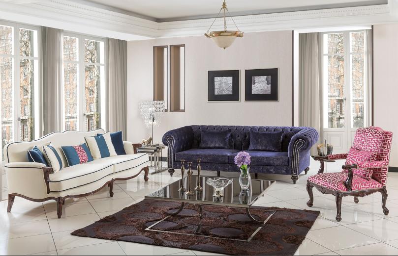 Sedir Mobilya Renkli Oturma Odası Modeli