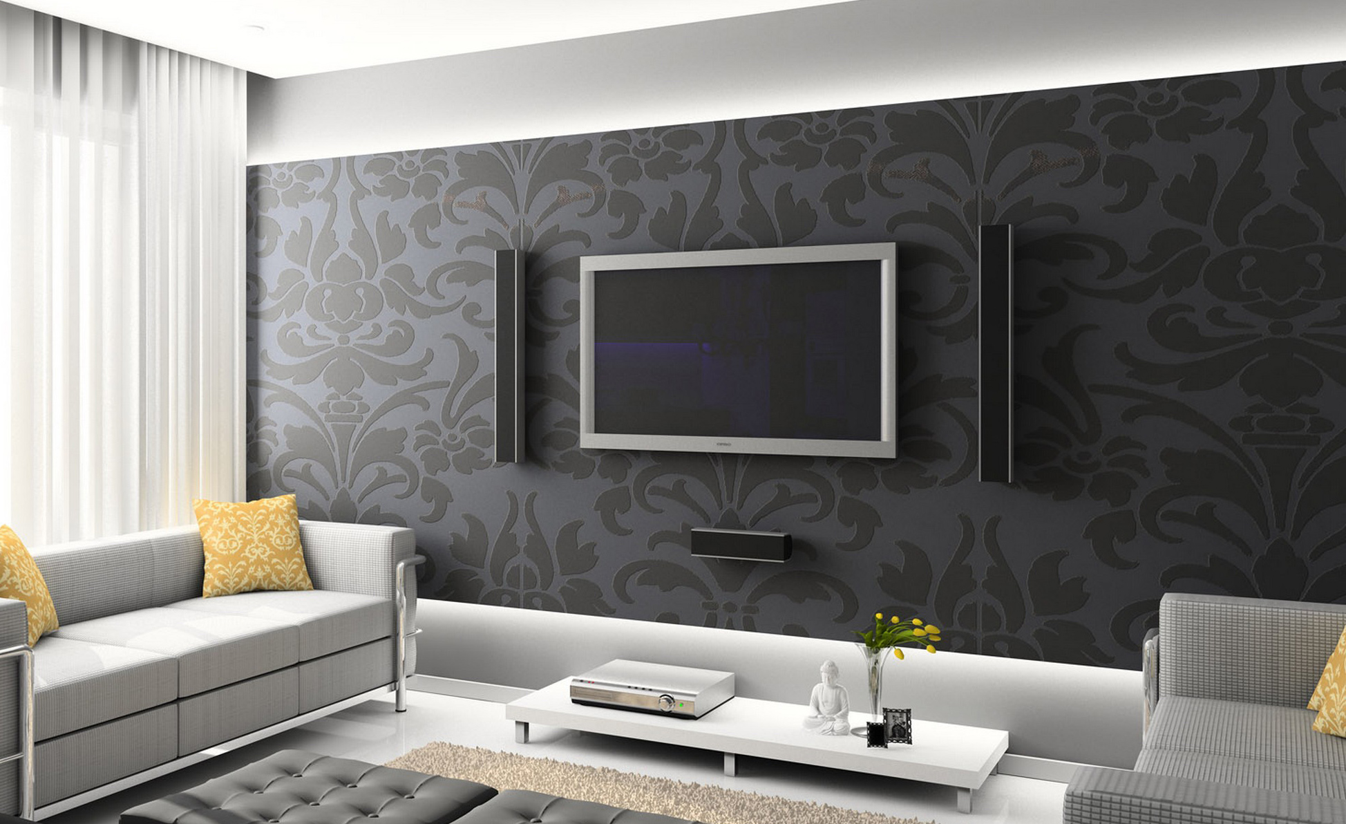 Tv Arkasi Duvar Dekorasyonu
