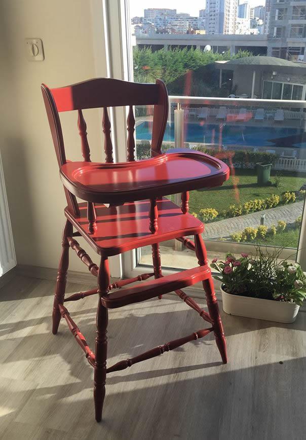 Ahşap Mama Sandalyesi Modeli