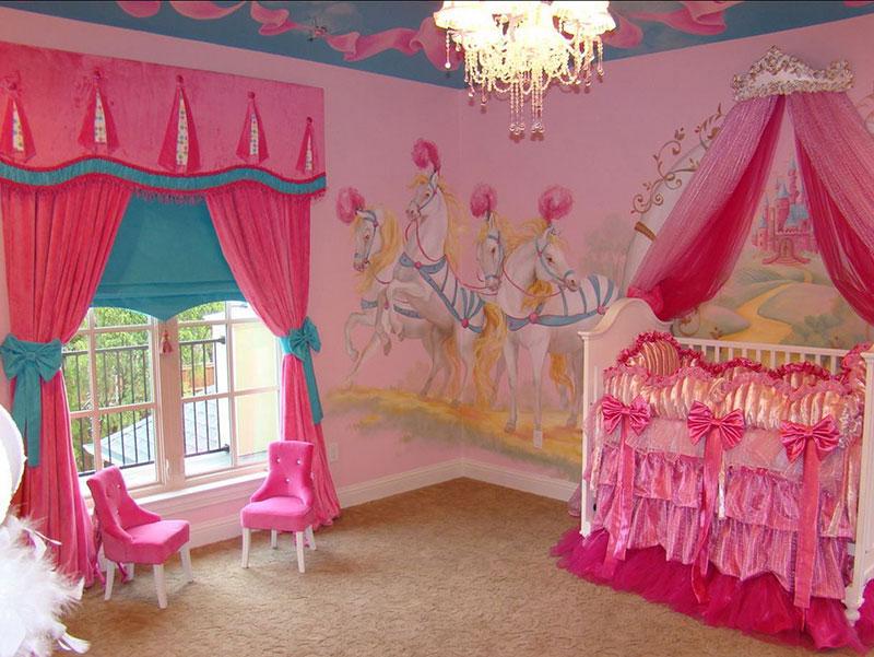 Kız Bebek Odası Duvar Kağıdı Seçimi