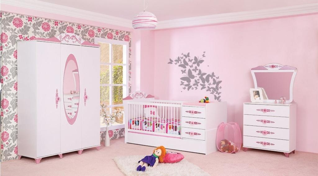 Vivensa Prenses Bebek Odası Takımı Pink