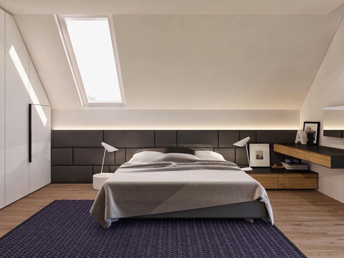 çatı katında tavanda cam kullanımı